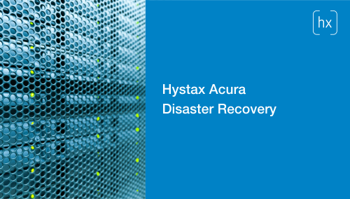 Hystax Acura Disaster Recovery