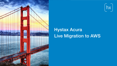 Hystax Acura Live Migration to AWS