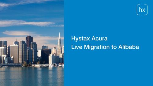Hystax Acura Live Migration to Alibaba