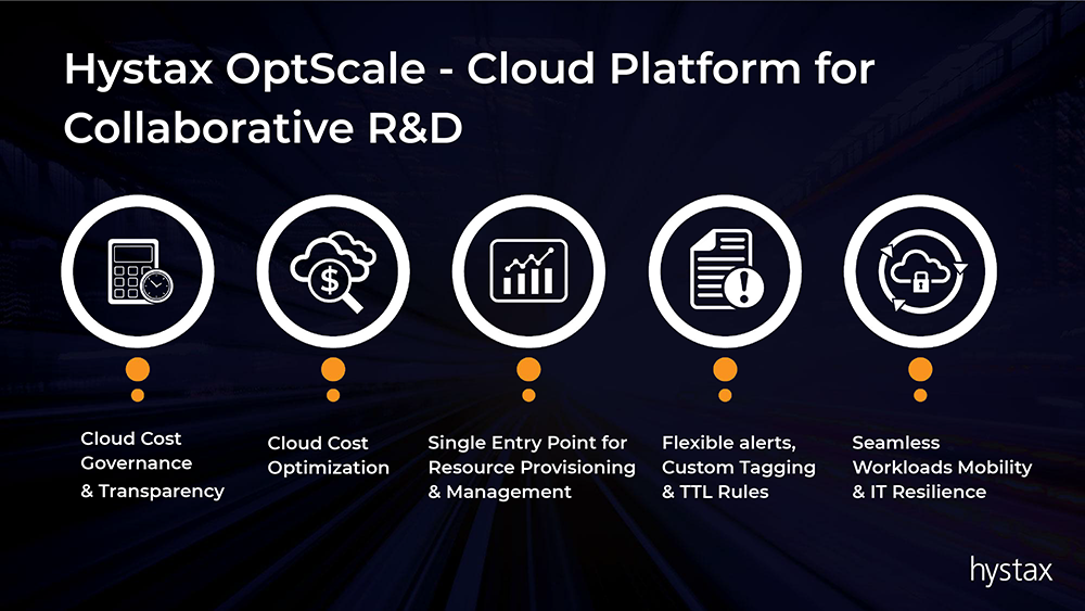 Hystax OptScale - cloud platform for collaborative R&D